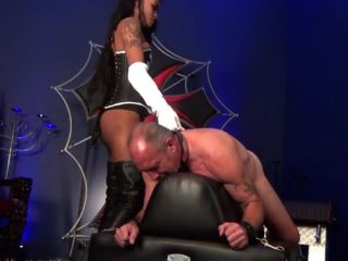 DomNation - Goddess Midnight - THE CANE STRIKES OF MIDNIGHT - bare bottom spanking on fetish porn