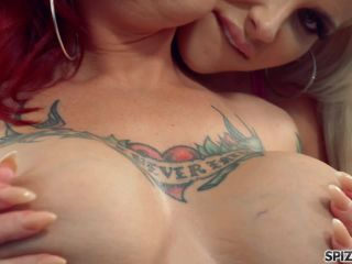 Spizoo presents Andy Adams & Anya Gold in Threesome Fuck Feast with Busty Tattooed Babes –