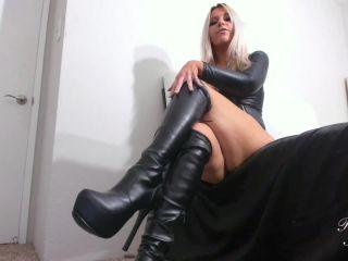 Online tube Princess Alexa - Boot worship slave - JOI & Humiliation