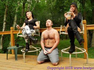 Female Domination – Brat Princess 2 – Mariah and Natalya – Coffee and Cigarettes with Human Ashtray