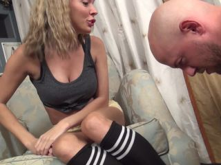 Socks licking – Foot humiliation by Mistress Pristine 3