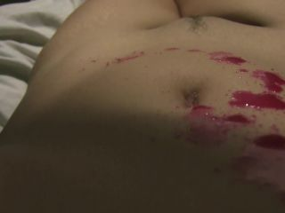 MyStacySweet - Close Up Belly Button Wax Play