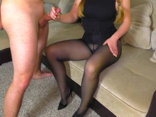 Teen StepSister With A Masturbator In Pantyhose Handjob On Her Nylon L ...