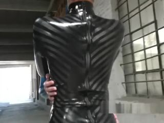 Latex Condom Catsuit