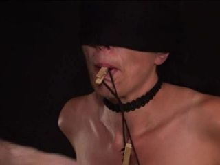 Bondage tits and hard beating