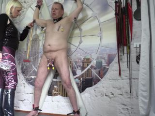 Naked Slave – Lady Karame – Who says you can cum, on my sexy Hunter Boots