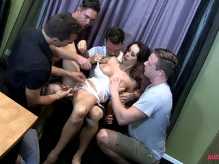 AussieAss - Dallas Rayne - Threes a croud but four is an orgy  on orgy