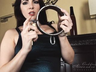 Goddess Alexandra Snow in Metal Bondage