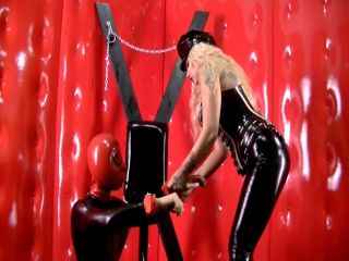 Femdom – Cruel Mistress and her packed slave