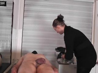 Cherie Noir – Testicular Meedle Straight Into The Ball Of Testicles