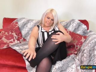 Sami - Great blonde with huge tits on sofa FullHD