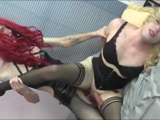 Sissy AliSlut got her anus violated by CD Mistress' 10 inch girlcock