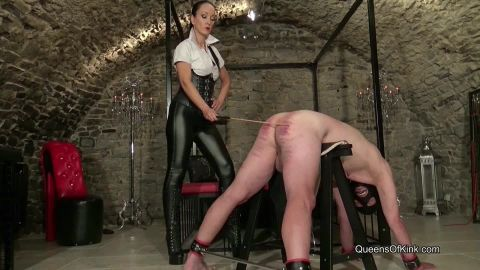 Fetish Liza starring in video (Strict Caning Mistress) of (QUEENS OF KINK) studio [HD 810P]