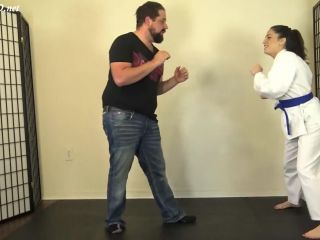 Footjob – Karate Domination – Cleo Earns Her Red Karate Belt