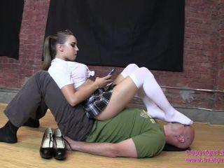 Porn online Foot-fetish – Brat Princess 2 – Sasha Foxx – Bratty School Girl Sits on Her Sugar Dummy