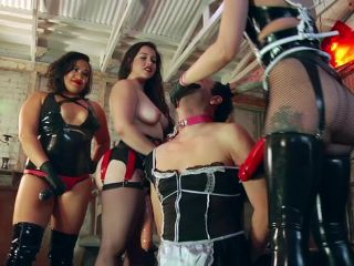 Next-Level Strap-On – Cybill Troy, Mona Wales, Domina Helena, Hannah Hunt, Mistress Valentine -The FemDom Gangbang of the Century! – Group Domination, Hunnah Hunt
