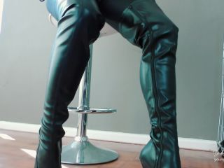 Young Goddess Kim – You, My Permanent Caged Boot slave – Boot Worship – Keyholder, Boot Domination, riding boots fetish on femdom porn