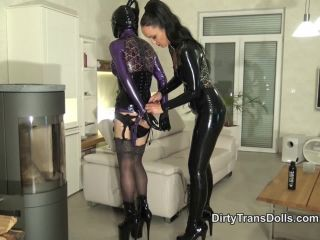 DirtyTransDolls – Milked and bound rubber doll – Fetish Liza – Cum Eating – Cumeating, Shemale on femdom porn goddess brianna femdom