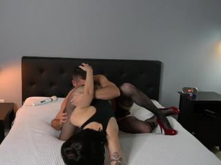 [Femdom 2018] She Owns Your Manhood  Ass Worship and Pegging at Home w Charlotte Sartre [PANTYHOSE DOMINATION, STRAP-ON, GOTHIC, TATTOOS & PIERCINGS]