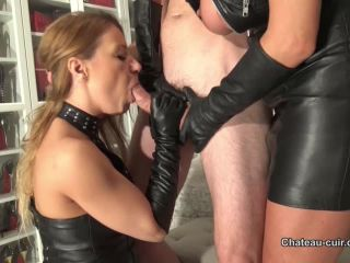 Chateaucuir Steamy Blowjob By Leather Milfs Part 2 Starring Nikki And Fetish Liza Handjob
