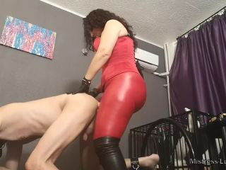 Porn online Red Leggings – Mistress Luna – Good pegging for my strap-on slut