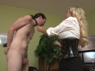 ClubDom – Nylons, Blond Hair – Stocking Face Slapping