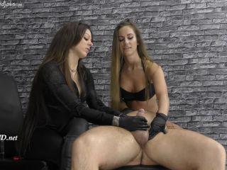 Online Tube CruelHandjobs presents Cleo and Amanda give him a handjob - handjob and footjob