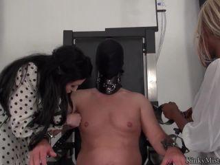 KinkyMistresses - Mistress Ava Black, Mistress Blackdiamoond - 3 Ladies and Sounds | cbt | black
