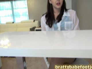 Bratty Babes Own You – Return Of Real Estate Agent Sadie Holmes Footjob