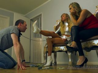 femdom - Americanmeangirls – Princess Ashley, Princess Chanel – Gag On Our Feet EuroTrash