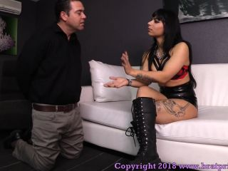 BratPrincess presents Lady Toro in Overreaching beta male Humbled with Boot and Foot Worship