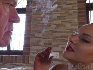 Femme Fatale Films – Mistress Fox – My Smoke In Your Face Part 1 – Human Ashtray – FFF, Cigarette on femdom porn femdom smother