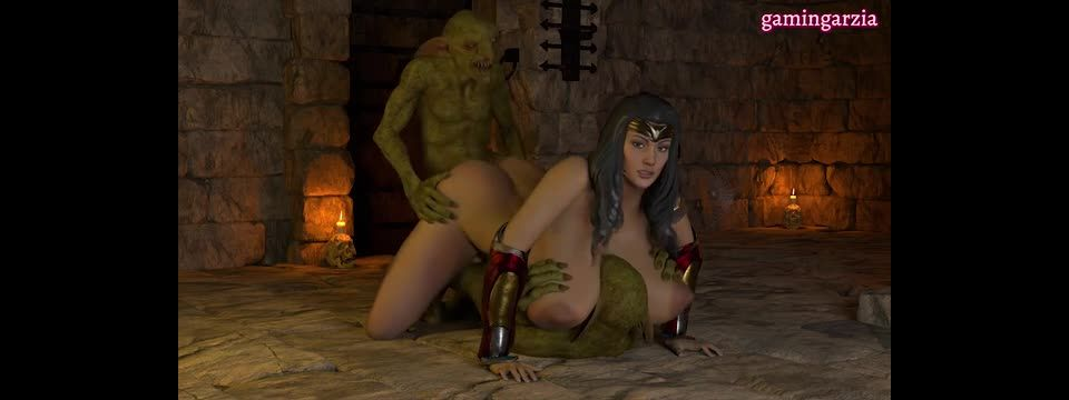 Wonder Woman fucked By Goblins
