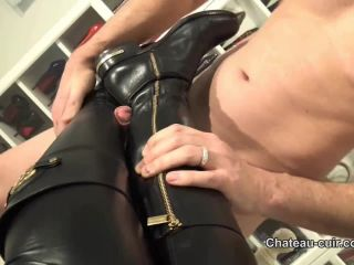Chateau-Cuir: Cum on My leather riding boots part 2 BDSM porn video and captions - bootjob - femdom porn softcore femdom