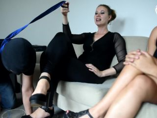 Foot Licking – Czech Soles – Two goddesses trampling, foot and face sitting slave