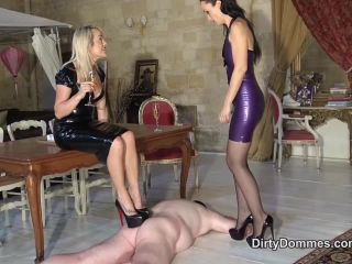 gay bdsm erotica Young Dominatrix – Dirty Dommes – DOUBLE LOUBOUTIN TRAMPLING, hard punishment on blonde