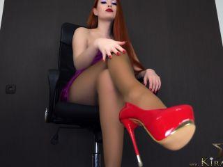 Kira Star – 4K Lick Your Cum From My Shoes - male cum swallowing - masturbation porn kristina rose femdom