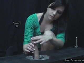 HandDomination – Baby face Brandi takes FULL advantage of a CAPTIVE cock - forced male orgasm on bdsm porn