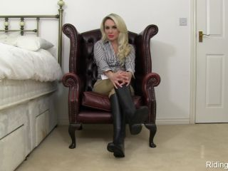 nylon femdom Riding Boots – Ashley Jay – Teasing – Bootlicking, Cocktease, riding boots on pov