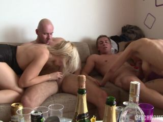 Czech Home Orgy - Czech beauties squirt in all directions