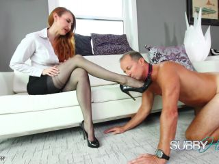 SubbyHubby - Kendra James Stocking Worshipped(Fetish porn)