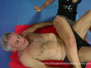 Online porn Erotic Female Domination - Mistress Lana - Strong Girl In Black PVC Corset Wrestling Video [Scissor]