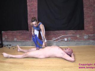 alison tyler primal fetish BratPrincess - Sasha Foxx - Aerobic Bitch Princess, facestanding on muscle