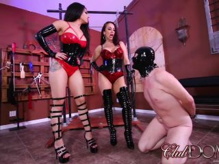 Clubdom - Jewell Marceau and Goddess Tangent Whip slave For Tardiness!!!
