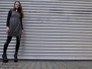 Ballet Heels - Latex Leggings