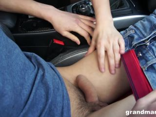 Brunettegranny Vicky Has Sex In Front Of Dirty Truck Drivers