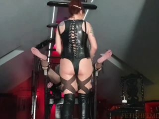 Danish Femdom - Smack The Saline Out Of His Balls!!!