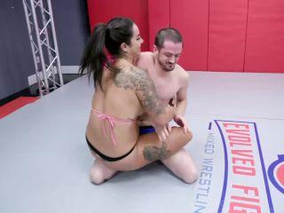 Evolved Fights – Miss Demeanor vs Flufffy – Mixed Wrestling on femdom porn angora fetish