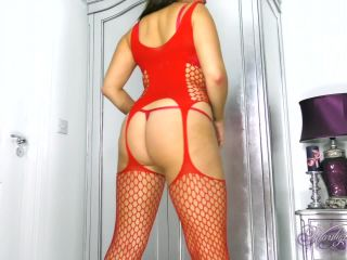 Worship Jasmine - Red Fishnet Edging | worship jasmine | fetish porn asian feet fetish