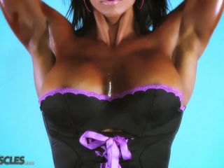 Jennifer Love In Black Lingerie while Work Out